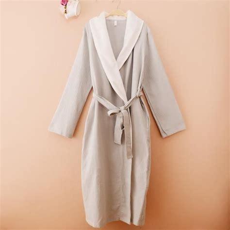 robe de chambre nid d 39 abeille coton eté femme grise