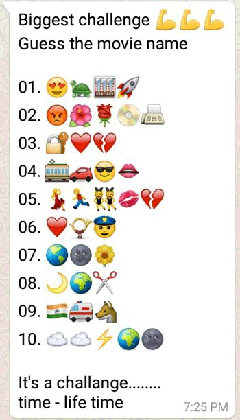 biggest challenge guess    whatsapp puzzle