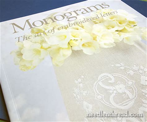 monograms  art  embroidered letters book review needlenthreadcom