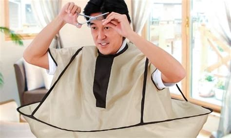 No-mess Hair Cutting And Styling Cape