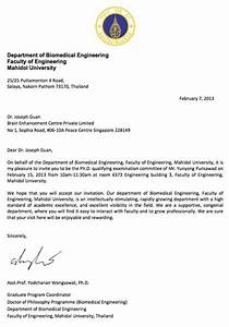 Dr Joseph Guan chosen to be external examiner of Mahidol University  Brain Enhancement Centre