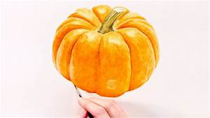 How To Paint A Realistic Pumpkin In Watercolour With Anna
