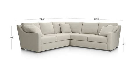 Crate And Barrel Verano Sofa Smoke by Verano Canvas Sectional Sofa Crate And Barrel