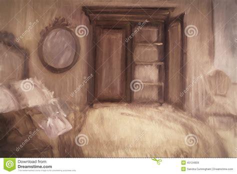 peinture d une chambre peinture à l 39 huile d 39 une chambre à coucher illustration
