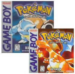 pokemon red blue game boy