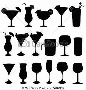 Alcohol Glasses Clipart