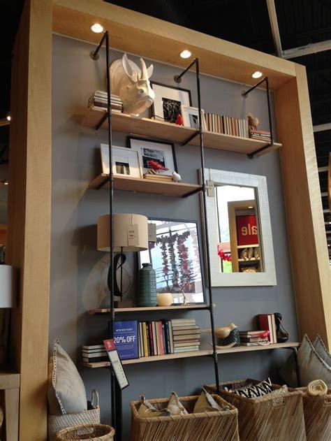 pipe shelf  spotted  west elm overocker living room