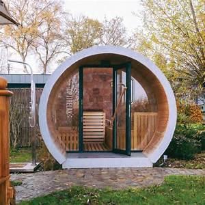 Gartensauna Mit Dusche : luxus gartensauna relaxpipe l optirelax ~ Whattoseeinmadrid.com Haus und Dekorationen