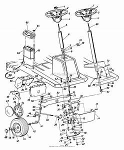 Mtd 136b560b000  1996  Parts Diagram For Steering Assembly
