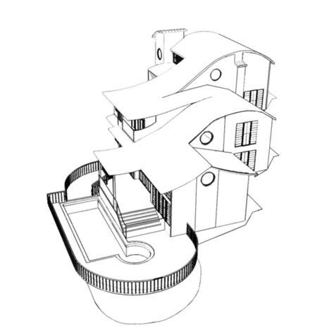 disegni da colorare 3d disegno di casa in 3d da colorare per bambini