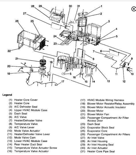 2000 Chevy Suburban Heater Diagram by 2002 Chevy Silverado Parts Diagrams Heater Wiring