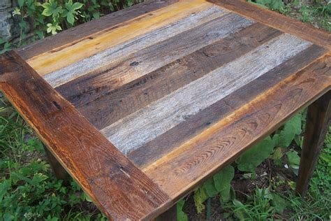 weathered gray barn wood kitchen table