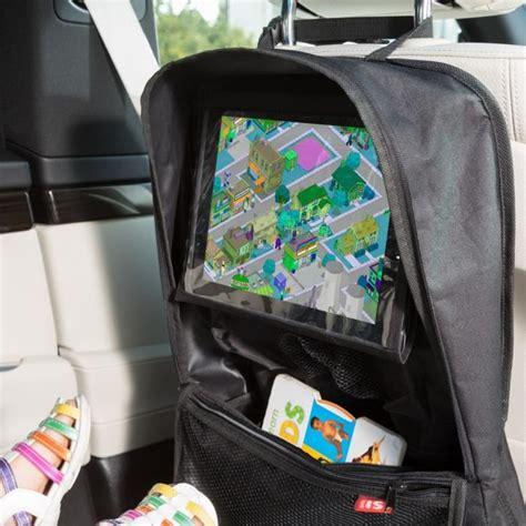 siege auto avec tablette isi mini organisateur de voiture avec porte noir