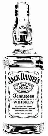 Jack Daniels Clip Stencil Bottle Daniel Whiskey Silhouette Clipart Vector Ak0 Pyrography Desenhos Vorlagen Retro Stencils Label Birthday Coloring Dessin sketch template
