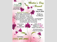 Mother's Day Brunch Events Calendar Airfield