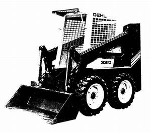 Gehl 3310  3410 Skid Loader Parts Manual
