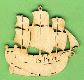 Schiff Basteln Holz : holz deko schiff dreimaster 6cm piraten dekoteile holz basteln von a z bastelshop ~ Frokenaadalensverden.com Haus und Dekorationen