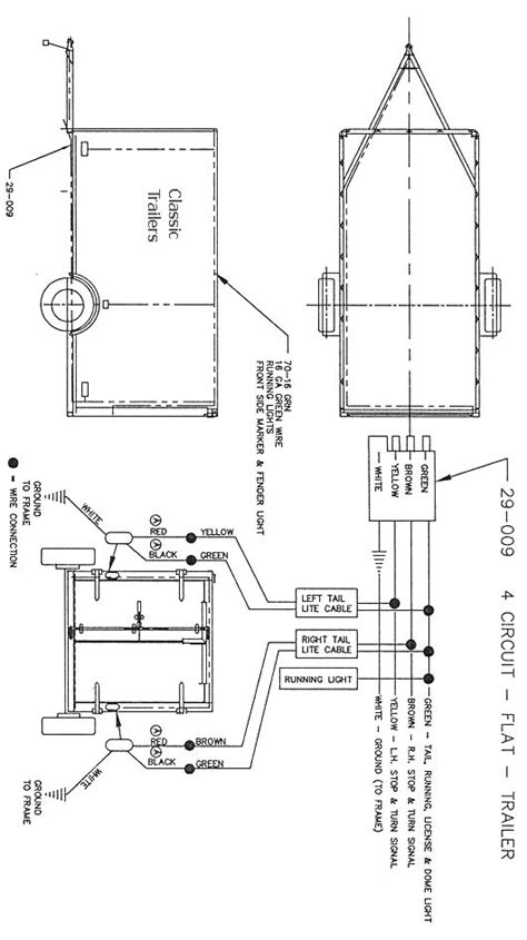 trailer wiring diagram  wire circuit trailer ideas