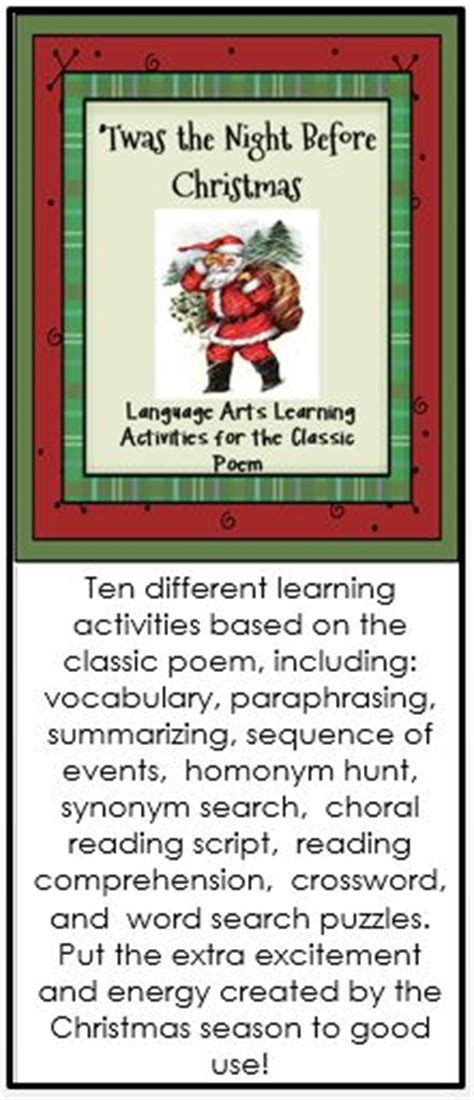 7778 best images about christmas language arts ideas on pinterest