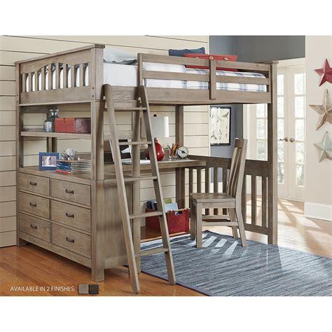 loft bed with desk ne kids highlands full loft bed with desk bedroom