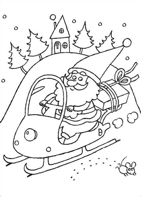 Kerstman En Kerstboom Kleurplaat by Kleurplaat Kerstmis Meer De Kerstman Op Een