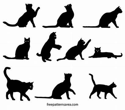 Silhouette Cat Clipart Vector Svg Outline Illustration