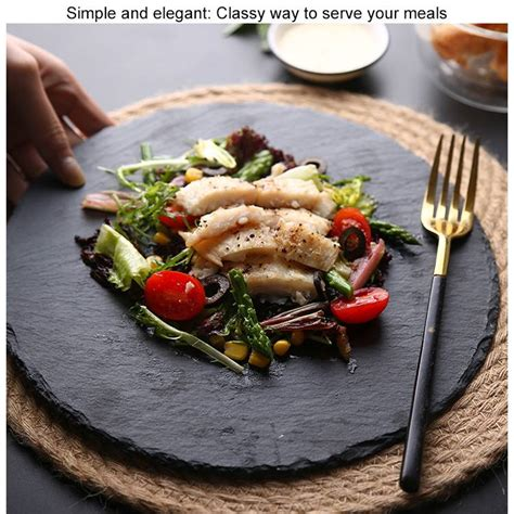 serving stone plate natural slate food tray round board bigspoon server cheese stand square foam 5cm homware rectangular bumpers scratch
