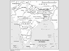 Physical features of India map Maps of India