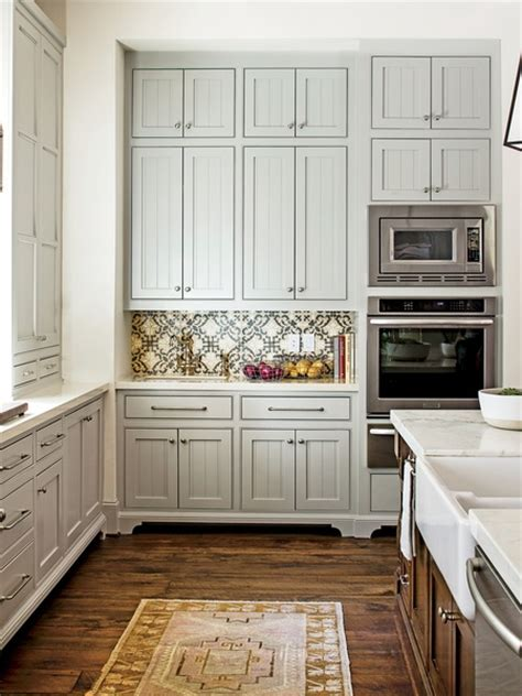 mindful grey cabinets gray beadboard cabinets cottage kitchen sherwin 282 | 20902a55650c