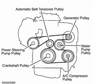 Ilustracion On How To Change The Serpentine Belt