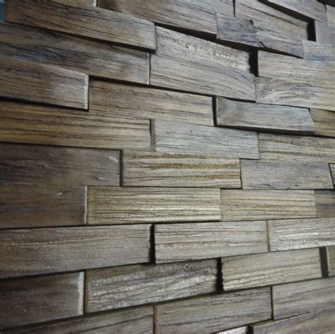 Decorative Wood Panels, Box, Mattoni Castanho
