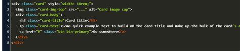 bootstrap text  card bigger code
