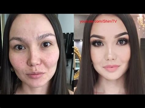 Современный макияж творит чудеса до и после 26 фото триникси