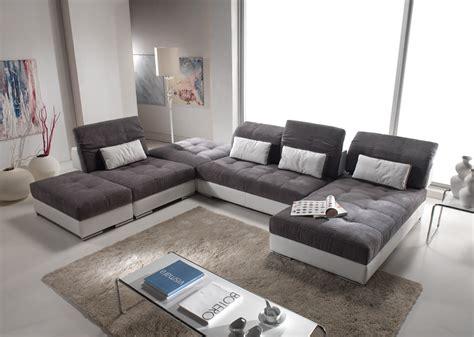 canapé d angle cuir et tissu canapé d 39 angle modulable en cuir et tissus modèle edition