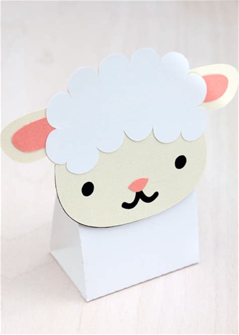 Treat Favor Box Template by Baby Sheep Treat Favor Box Die Cut Svg Included
