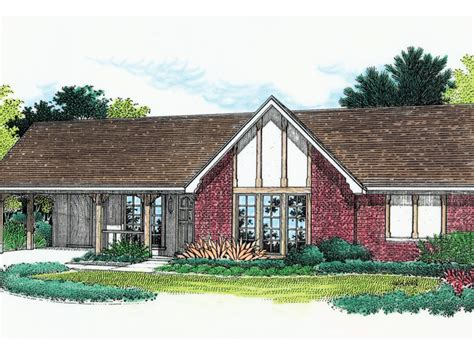 stevensville tudor ranch home plan   house plans