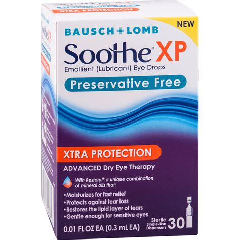 Bausch & Lomb Soothe XP Preservative Free Emollient ...