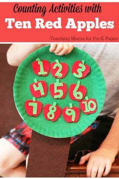 math center math manipulatives preschool and number sense 945 | 174c7ad45cf47b1e1da4f3efe36ab643 preschool apples fall preschool