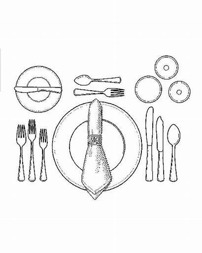 Setting Formal Table Etiquette Dinner Dining Place