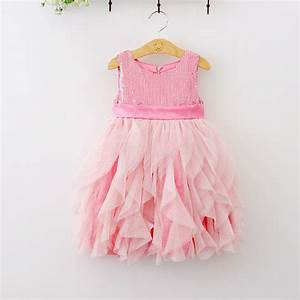 Kids Frock Designs Pink Sequined Draped Tutu Lace Cake ...