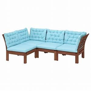 äpplarö modular corner sofa 3 seat outdoor brown stained