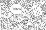 Coloring Pages Travel Hilton Newsroom Center sketch template