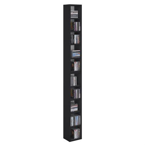 dvd regal schwarz cd dvd regal chart mit 10 f 228 chern in schwarz caro m 246 bel