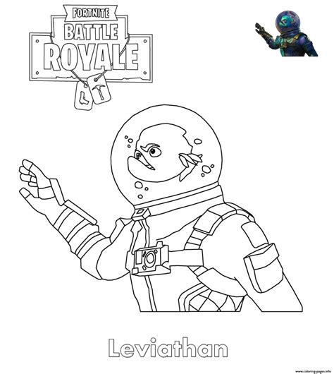 Coloring Skin by Fortnite Leviathan Skin Coloring Pages Printable