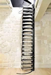 Echelle Escamotable Pour Grenier : escalier escamotable electrique pas cher ~ Melissatoandfro.com Idées de Décoration