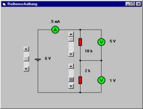 elektronik grundlagen reihenschaltung