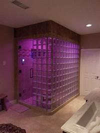 glass shower blocks Glass Block Steam Shower with Thinner Glass Blocks in Atlanta Georgia