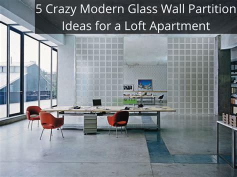 modern glass wall partition ideas   urban loft