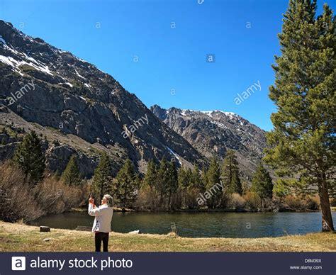 Blacks Pond In Town Of June Lake Near Yosemite National
