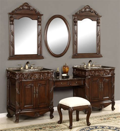 bathroom sink with makeup vanity 80 inch and over vanities bathroom sink vanities